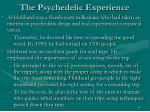 the psychedelic experience24
