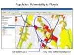 population vulnerability to floods33