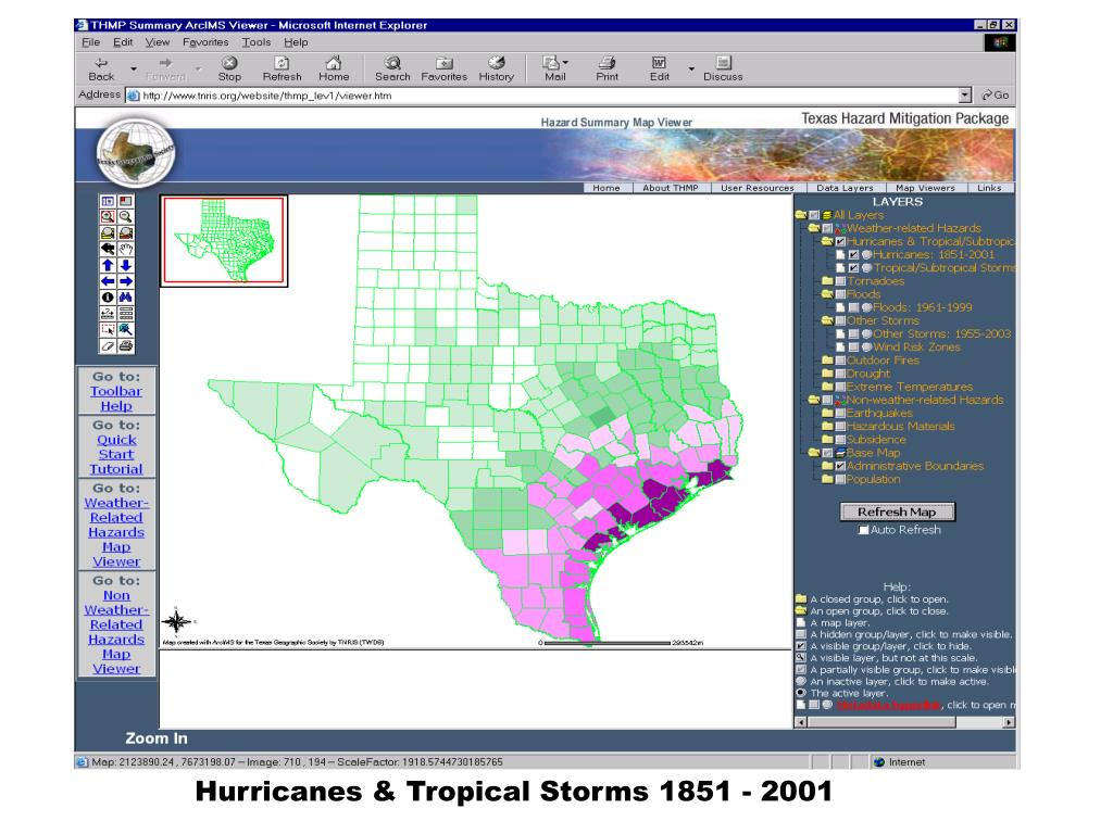 Hurricanes & Tropical Storms 1851 - 2001