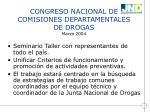 congreso nacional de comisiones departamentales de drogas marzo 2004