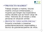 proyecto madres