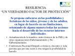 resiliencia un verdadero factor de protecci n