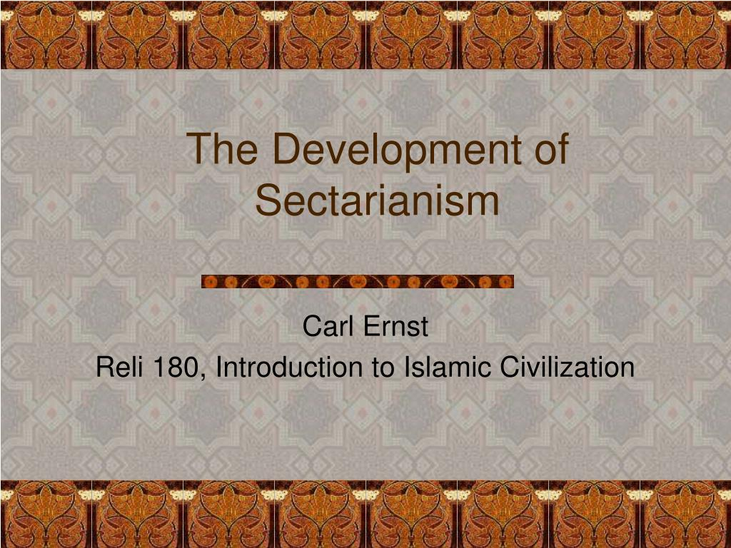 the development of sectarianism l.