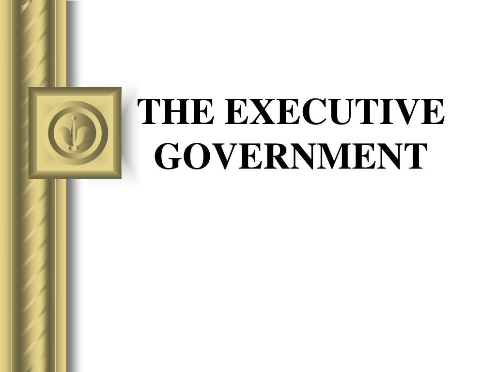 the executive government l.