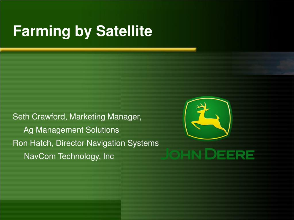farming by satellite l.