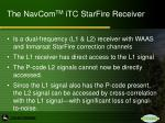 the navcom tm itc starfire receiver