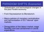 paradigm shifts economic