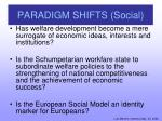 paradigm shifts social