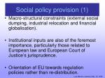 social policy provision 1