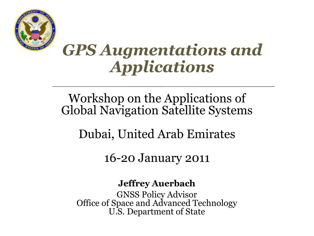gps augmentations and applications l.