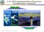 u s gps augmentation programs designed for aviation
