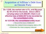 acquisition of affiliate s debt from an outside party5