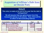 acquisition of affiliate s debt from an outside party6