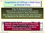 acquisition of affiliate s debt from an outside party7