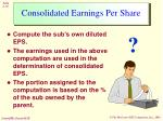consolidated earnings per share18