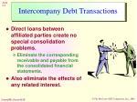 intercompany debt transactions