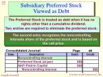 subsidiary preferred stock viewed as debt10