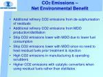 co 2 emissions net environmental benefit