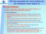 eu has mandate for more action on air pollution from ships 1