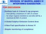 revision of marpol annex vi intertanko suggestion