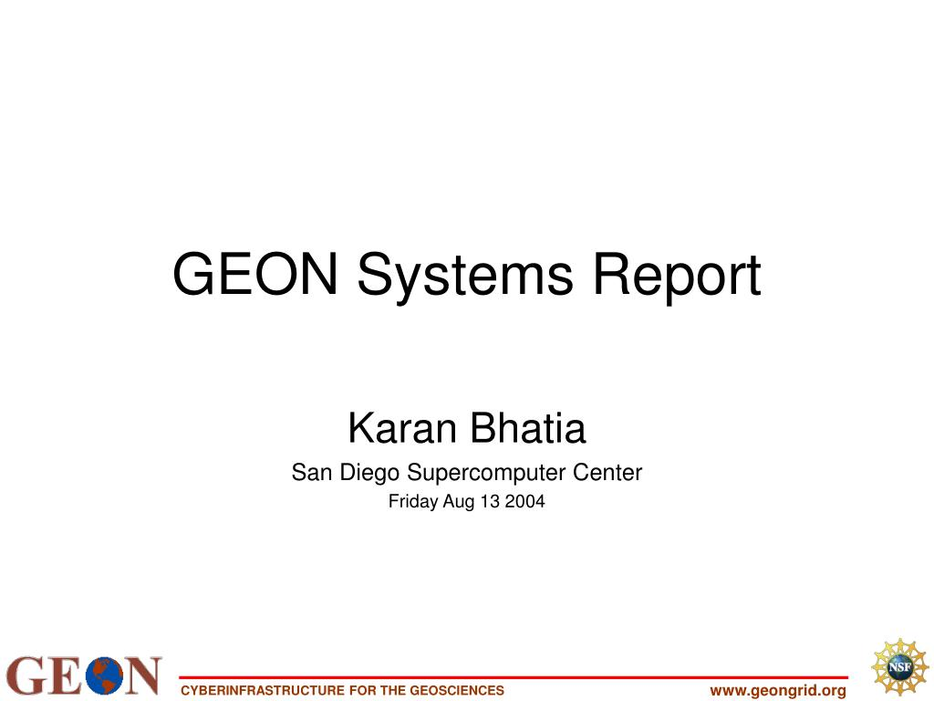 geon systems report l.