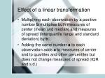 effect of a linear transformation