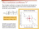 the correlation coefficient r