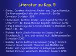 literatur zu kap 5