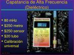 capatancia de alta frecuencia diel ctrico