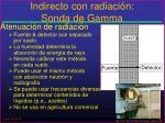indirecto con radiaci n sonda de gamma