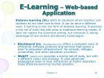 e learning web based application