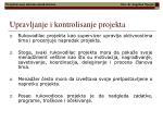 upravljanje i kontrolisanje projekta