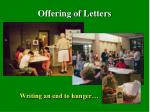 offering of letters