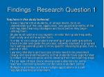 findings research question 1