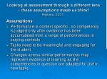 looking at assessment through a different lens these assumptions made us think hipkins 2007