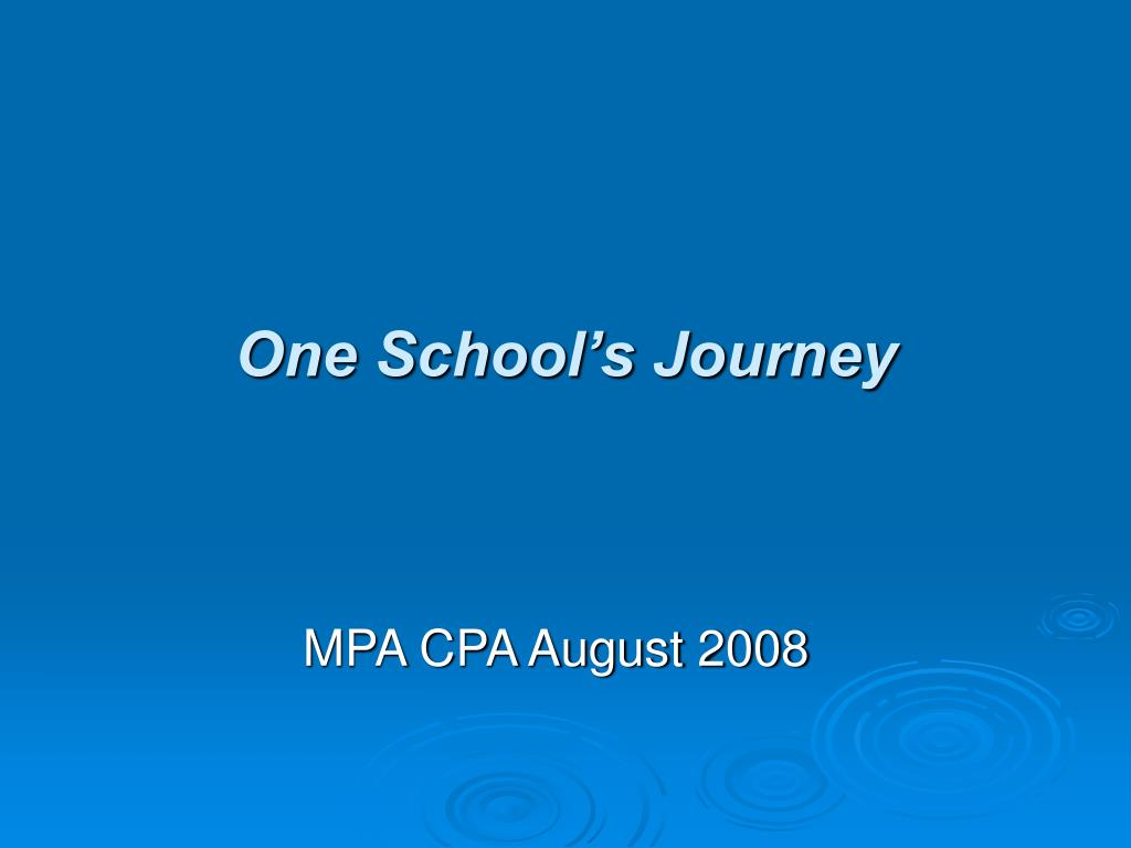 one school s journey l.