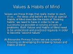 values habits of mind