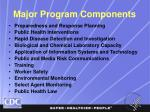 major program components