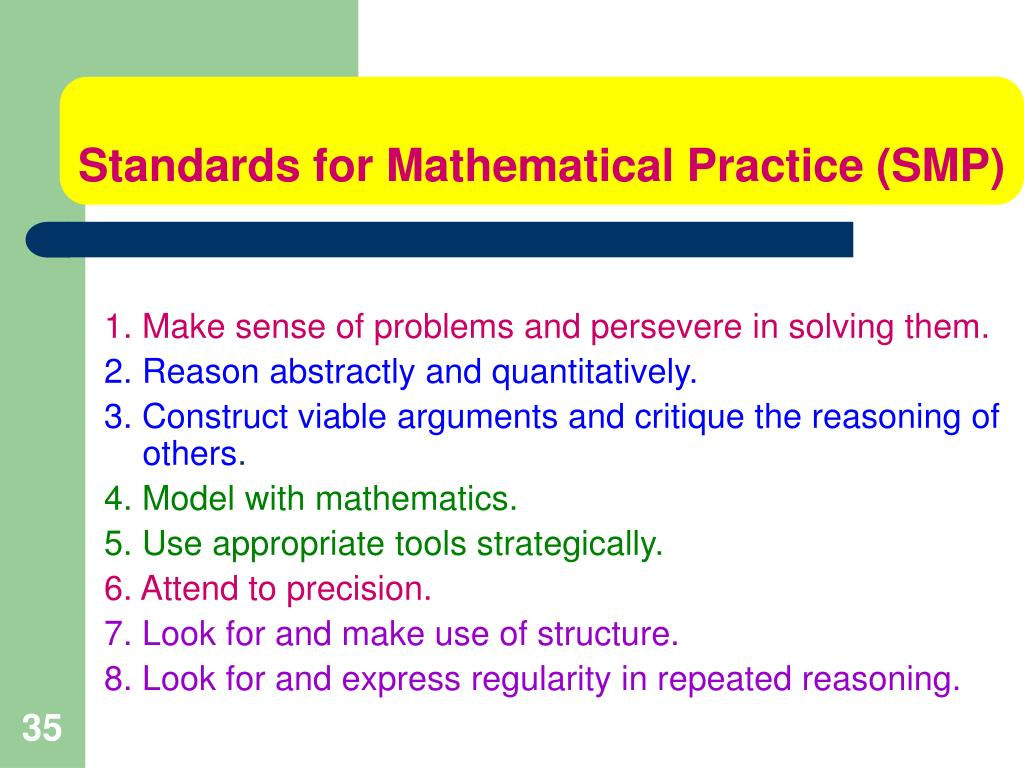 Standards for Mathematical Practice (SMP)