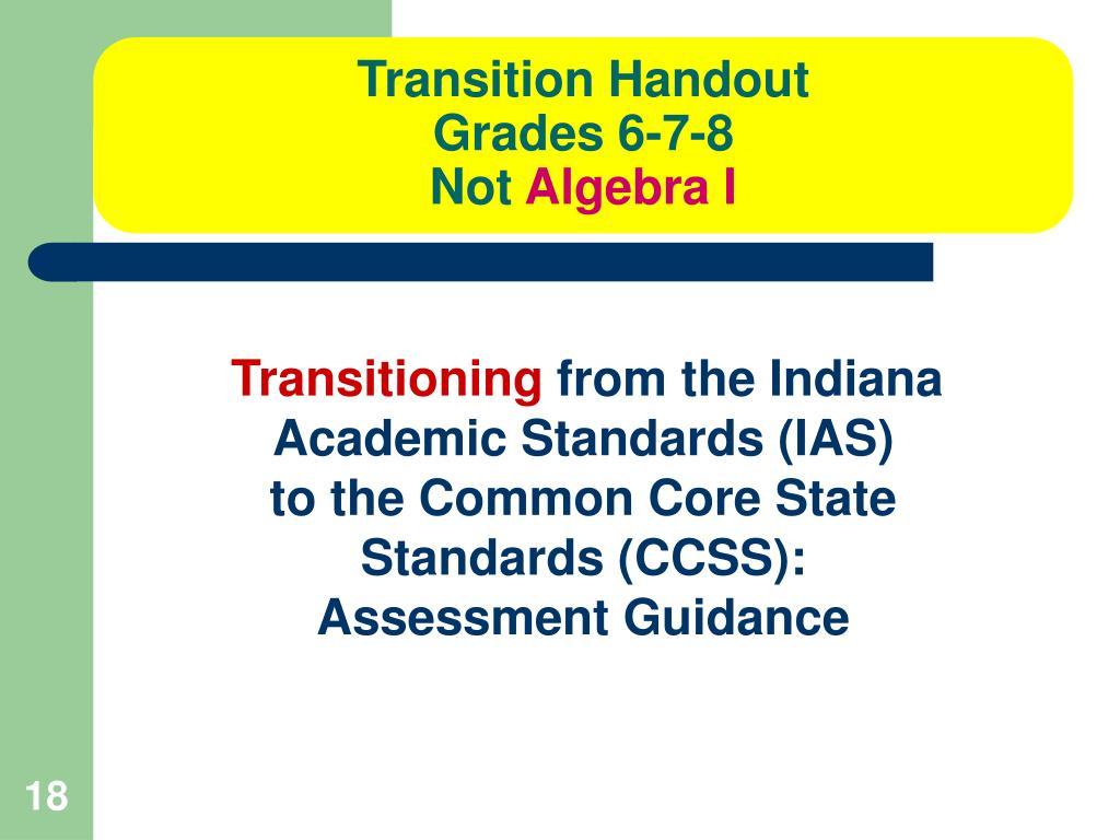 Transition Handout