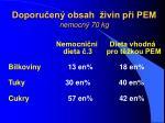 doporu en obsah ivin p i pem nemocn 70 kg