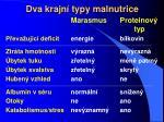 dva krajn typy malnutrice