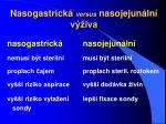nasogastrick versus nasojejun ln v iva