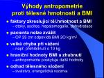v hody antropometrie proti t lesn hmotnosti a bmi