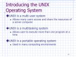 introducing the unix operating system13