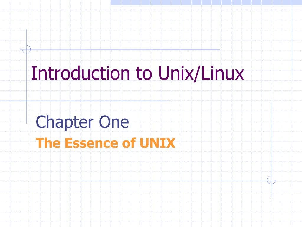introduction to unix linux l.