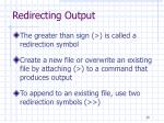 redirecting output