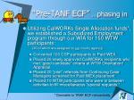 pre tanf ecf phasing in