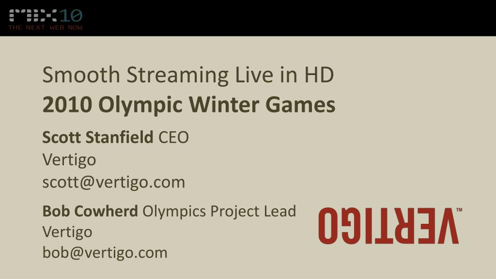 smooth streaming live in hd 2010 olympic winter games l.
