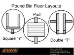 round bin floor layouts